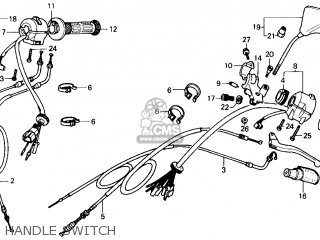 Honda Cmx250c Rebel 250 1986 Usa Handle Switch