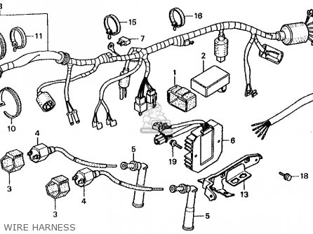 Honda Cmx250c Rebel 250 1986 Usa Wire Harness