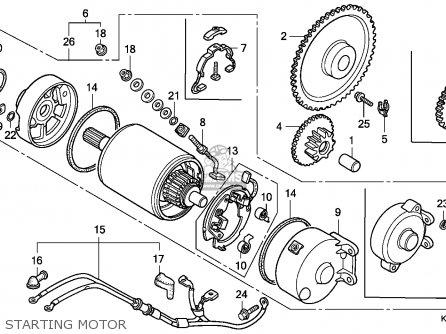 Honda Cn250 Helix 1986 g Canada   Kph Starting Motor