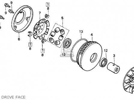 honda cn250 helix 1986 g usa drive face_mediumhu0271e1200a_f127 honda cn250 helix 1986 (g) usa parts lists and schematics