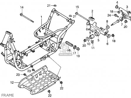 honda cn250 helix 1986 g usa parts list partsmanual. Black Bedroom Furniture Sets. Home Design Ideas
