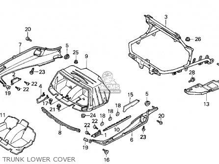 Honda Cn250 Helix 1986 g Usa Trunk Lower Cover