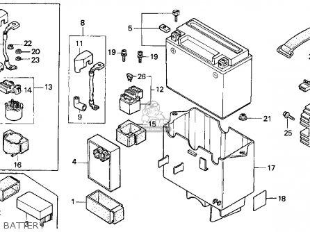 Honda Cn250 Helix 1987 h Usa Battery
