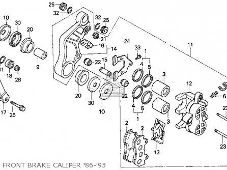 Honda Cn250 Helix 1987 h Usa Front Brake Caliper 86-93