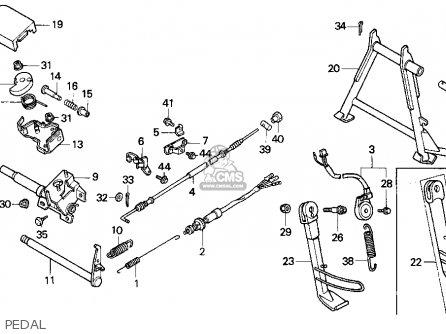 Honda Cn250 Helix 1987 h Usa Pedal