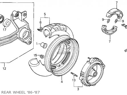Honda Cn250 Helix 1987 h Usa Rear Wheel 86-87