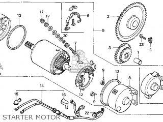 Honda Cn250 Helix 1987 h Usa Starter Motor