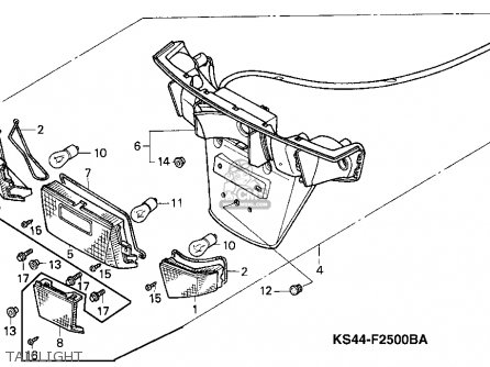 Honda Cn250 Helix 1987 h Usa Taillight
