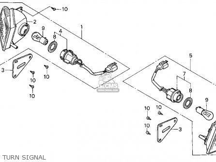 Honda Cn250 Helix 1987 h Usa Turn Signal