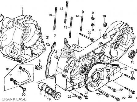 Honda Cn250 Helix 1988 j France Kph Yb Crankcase