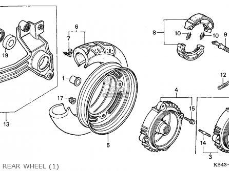 Honda Cn250 Helix 1988 j France Kph Yb Rear Wheel 1