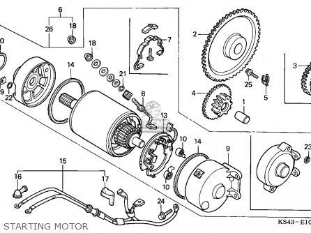 Honda Cn250 Helix 1988 j France Kph Yb Starting Motor