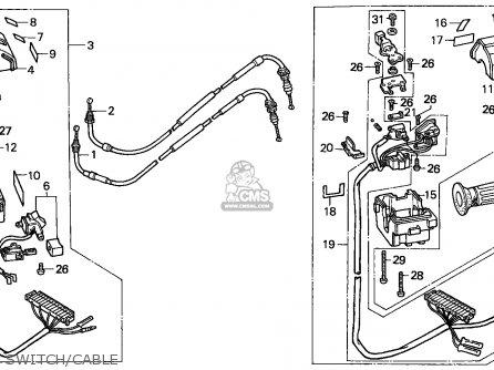 Honda Cn250 Helix 1988 j France Kph Yb Switch cable