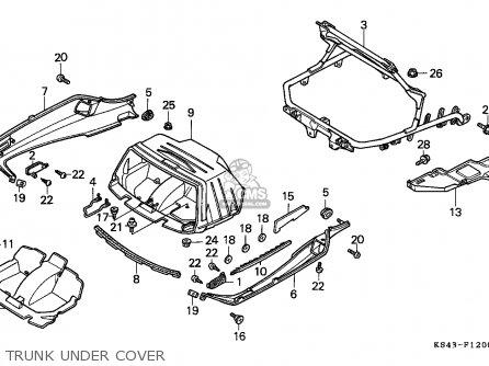 Honda Cn250 Helix 1988 j France Kph Yb Trunk Under Cover