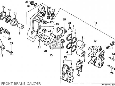Honda Cn250 Helix 1988 j Italy Kph Front Brake Caliper