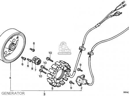Honda Cn250 Helix 1988 j Italy Kph Generator