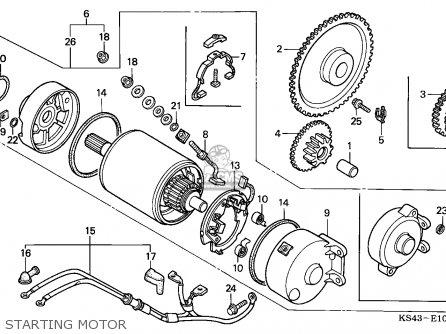 Honda Cn250 Helix 1988 j Italy Kph Starting Motor