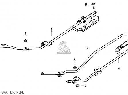 Honda Cn250 Helix 1988 j Italy Kph Water Pipe