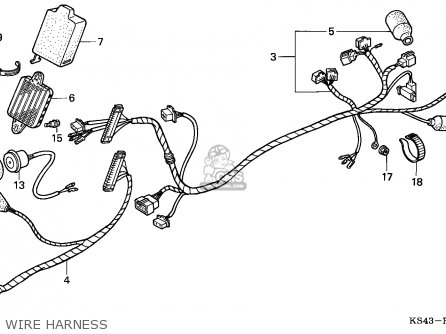 Honda Cn250 Helix 1988 j Italy Kph Wire Harness