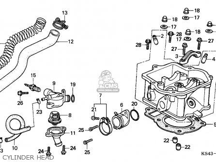 Honda Cn250 Helix 1988 j Switzerland Kph Cylinder Head