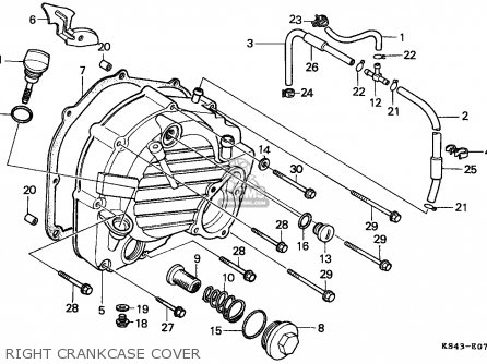 Honda Cn250 Helix 1988 j Switzerland Kph Right Crankcase Cover