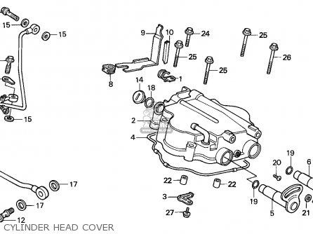 Honda Cn250 Helix 1991 m England Mph Cylinder Head Cover