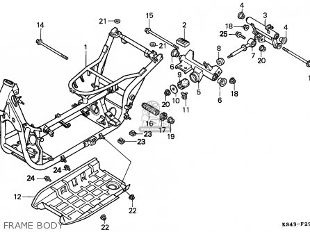 Honda Cn250 Helix 1991 m England Mph Frame Body