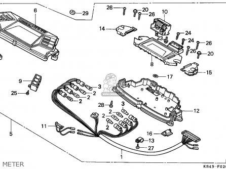 Honda Cn250 Helix 1991 m England Mph Meter