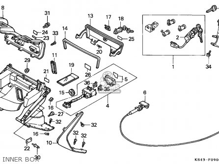 Honda Cn250 Helix 1991 m France Kph Yb Inner Box