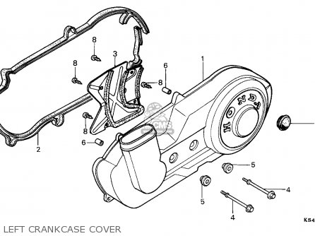 Honda Cn250 Helix 1991 m France Kph Yb Left Crankcase Cover