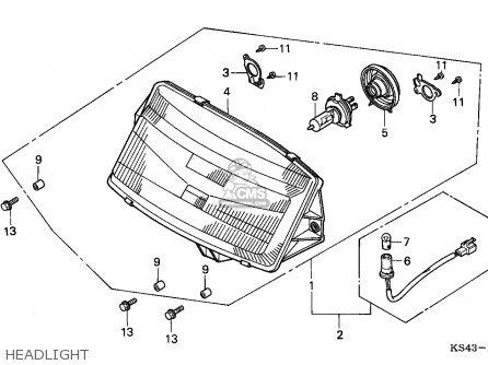 Honda Cn250 Helix 1991 m Italy Kph Headlight