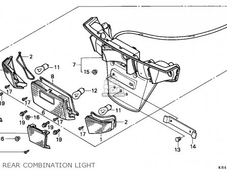 Honda Cn250 Helix 1991 m Italy Kph Rear Combination Light