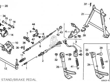 Honda Cn250 Helix 1991 m Italy Kph Stand brake Pedal