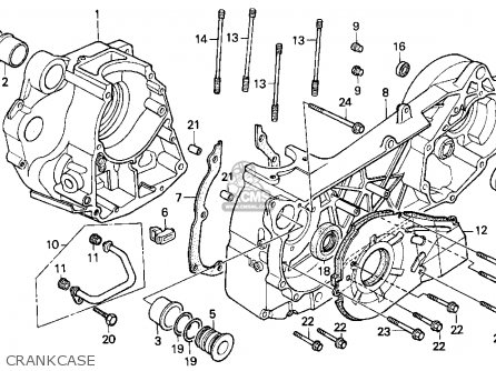 Honda Cn250 Helix 1992 n Usa Crankcase