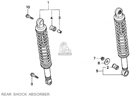 Honda Cn250 Helix 1992 n Usa Rear Shock Absorber
