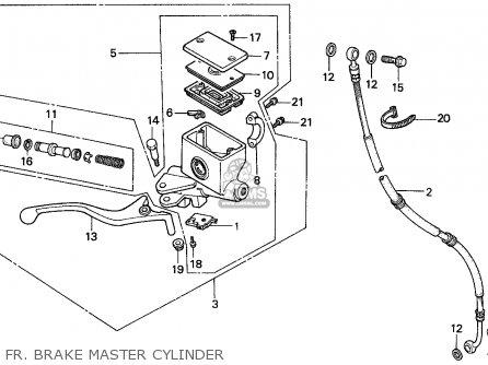 Honda Cn250 Helix 1993 p Singapore Kph Fr  Brake Master Cylinder