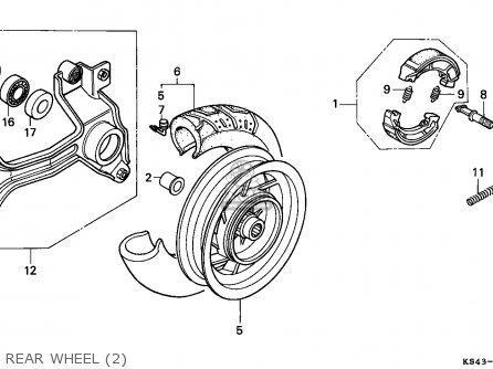 Honda Cn250 Helix 1993 p Singapore Kph Rear Wheel 2