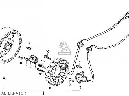 Honda Cn250 Helix 1993 p Usa Alternator