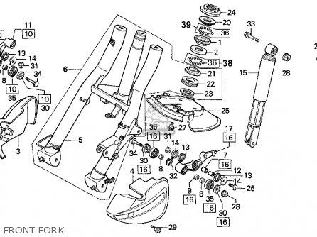 Honda Cn250 Helix 1993 p Usa Front Fork