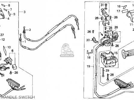 Honda Cn250 Helix 1993 p Usa Handle Switch