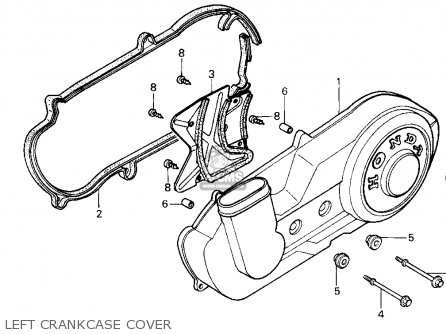 Honda Cn250 Helix 1993 p Usa Left Crankcase Cover