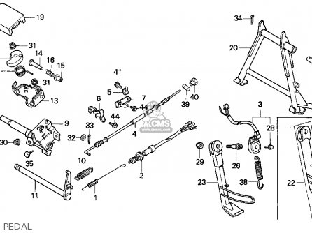 Honda Cn250 Helix 1993 p Usa Pedal