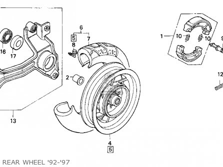 Honda Cn250 Helix 1993 p Usa Rear Wheel 92-97