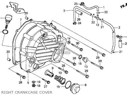 Honda Cn250 Helix 1993 p Usa Right Crankcase Cover