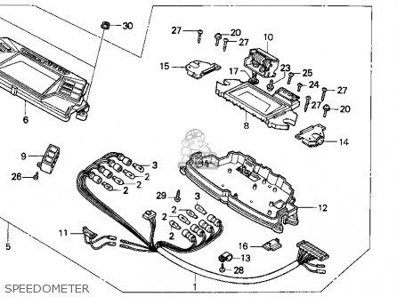 Honda Cn250 Helix 1993 p Usa Speedometer