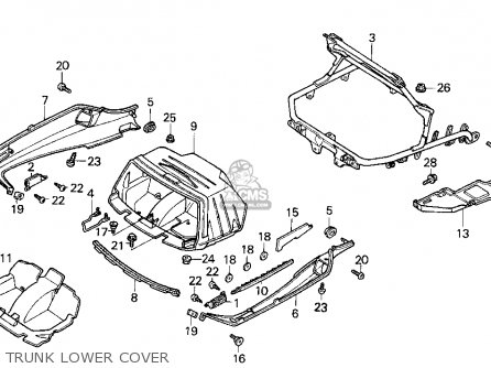 Honda Cn250 Helix 1993 p Usa Trunk Lower Cover