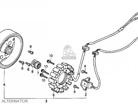 Honda Cn250 Helix 1994 r Usa Alternator