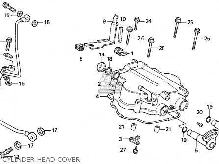 Honda Cn250 Helix 1994 r Usa Cylinder Head Cover