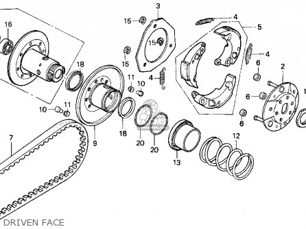 Honda Cn250 Helix 1994 r Usa Driven Face