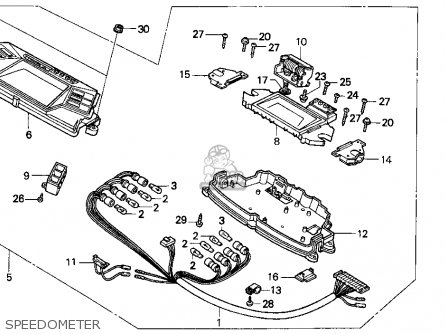 Honda Cn250 Helix 1994 r Usa Speedometer